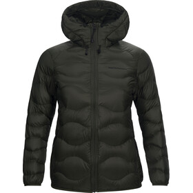 Peak Performance Helium Down Hood Jacket Women Forest Night